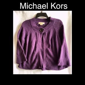 Michael Kors purple small cardigan